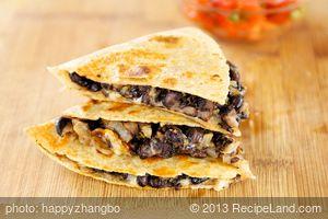 Cheesy Black Bean Quesadillas