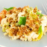 Baked Macaroni and Cheese with Broccoli and Cauliflower