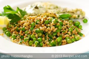 Toasted Lemon Couscous with Peas