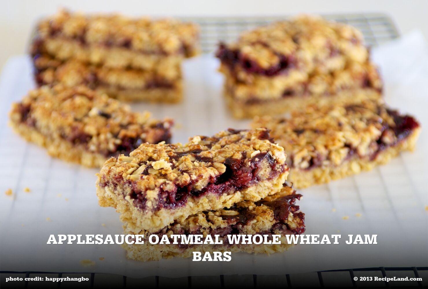 Applesauce Oatmeal Whole Wheat Jam Bars