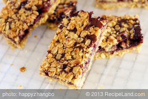 Applesauce Oatmeal Whole Wheat Jam Bars