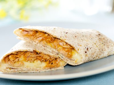 Simple Barbecue Tuna Wrap