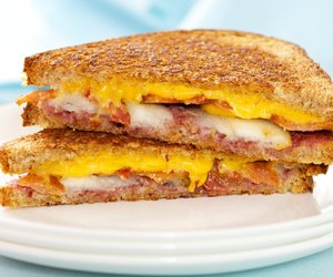 Bacon, Raspberry, Pear Grilled Cheese