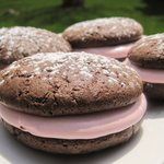 Raspberry Cream Whoopie Pies