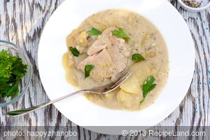 Slow Cooker Pork Chop And Potatoes in Mustard Sauce