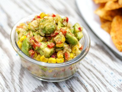 Avocado, Roasted Corn, and Cilantro Salsa