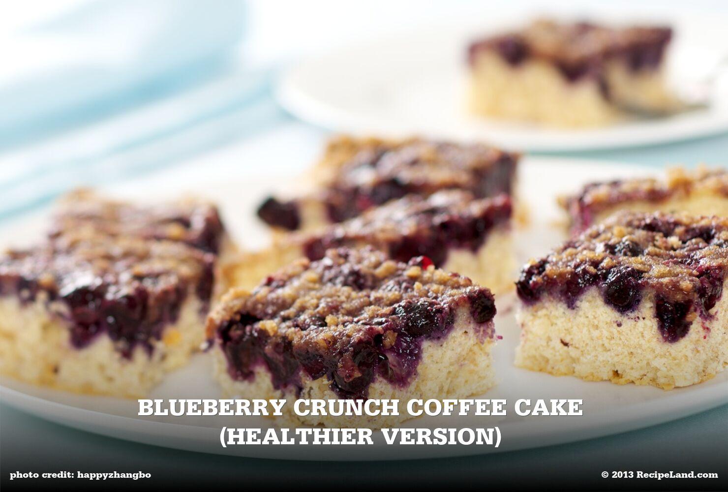 Blueberry Crunch Coffee Cake (Healthier Version)