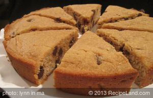 Peanut Butter and Chocolate Chip Cookie Cake