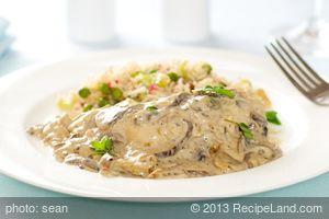 Chicken with Shiitake Mushroom Sauce