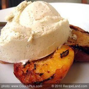 Grilled Peaches and Vanilla Bean Ice Cream