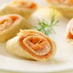 Smoked Salmon Crepe Spirals