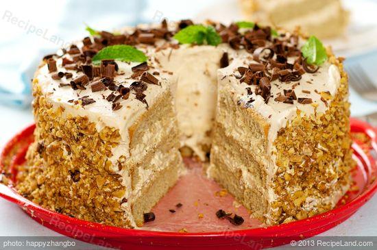 Coffee Cream Cake Recipe Recipeland Com