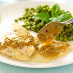 Sole with Orange Tarragon Cream Sauce