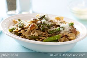 Bow-Tie Pasta, Asparagus, Toasted Almonds and Browned Butter