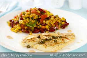 Sole with Lemon, Capers and Almonds