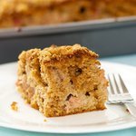 Best Rhubarb Cake (Healthier Version)