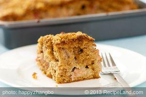 Best Rhubarb Cake (Healthier Version)