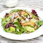 Roasted Pear, Walnuts and Parmesan Salad