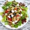 Roasted Asparagus, Cherry Tomatoes with Arugula, Penne and Goat Cheese Salad