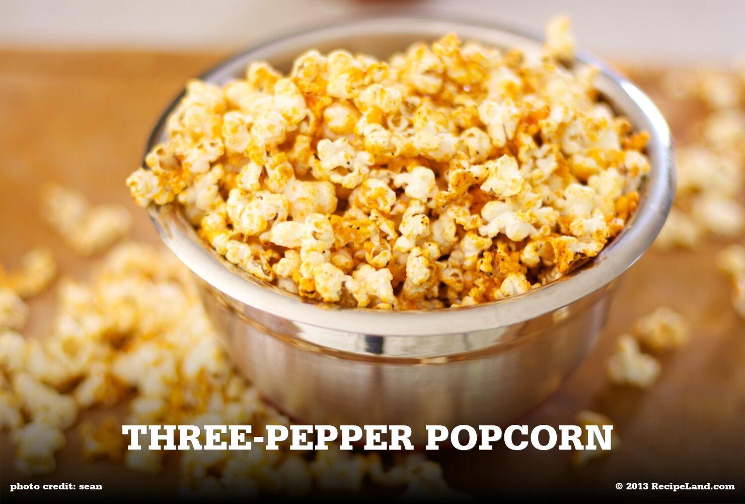 Three-Pepper Popcorn