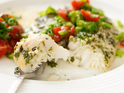 White Wine and Cilantro Braised Fish