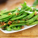 Sugar Snap Peas with Browned Butter, Hazelnuts and Sage