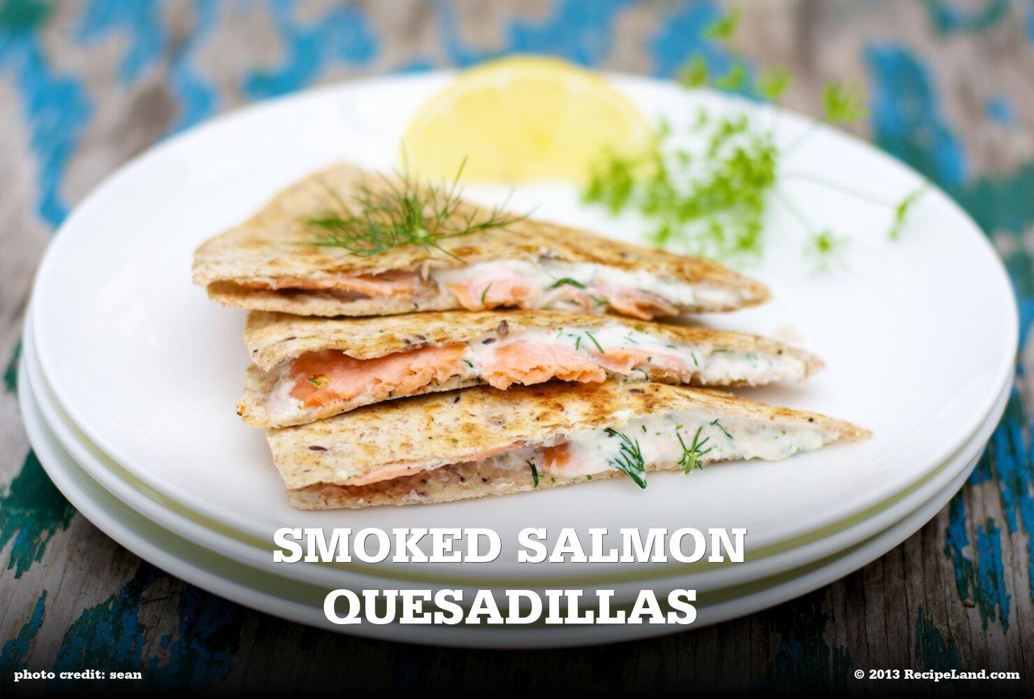 Smoked Salmon Quesadillas
