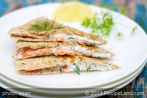 Smoked Salmon Quesadillas