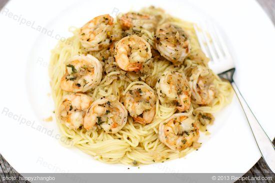 Shrimp Scampi Pasta Recipe Recipeland Com