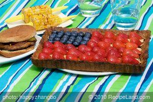Fourth of July Flag Apple Tart
