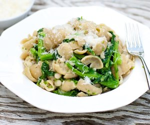 Broccoli Rabe (Rapini) and Pasta with White Bean and Anchovy Sauce