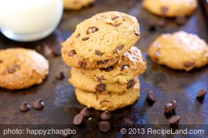 Applesauce, Peanut Butter and Chocolate Chip Cookies
