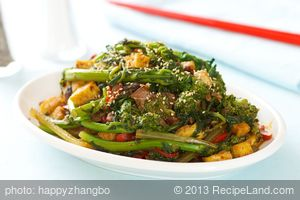 Rapini and Tofu Stir Fry