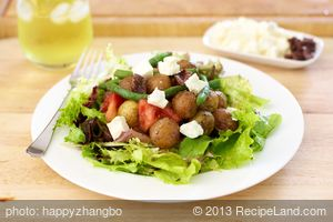 Roasted New Potato Salad with Basil Vinaigrette