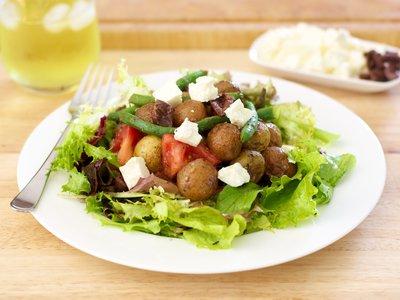 Roasted New Potato Salad with Basil Vinaigrette
