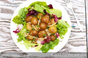 Charred New Potato and Fennel Salad