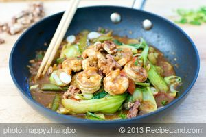 Walnut Chicken/Shrimp Stir-Fry