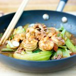 Walnut Chicken/Shrimp Stir-Fry