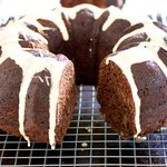 Chocolate Zucchini Rum Cake (Healthier Version)