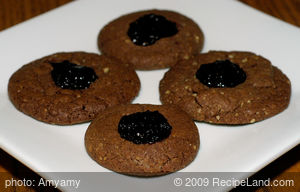 Chocolate Thumbprint Jam Cookies