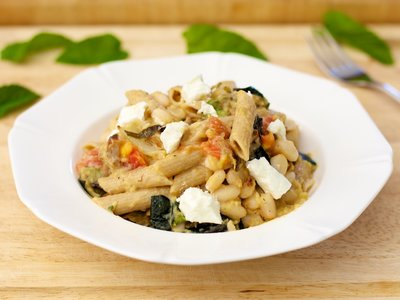 Fennel, Zucchini and White Bean Pasta
