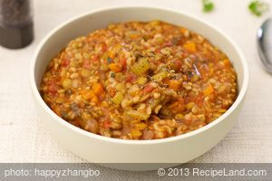 Favorite Brown Rice and Lentil Stew