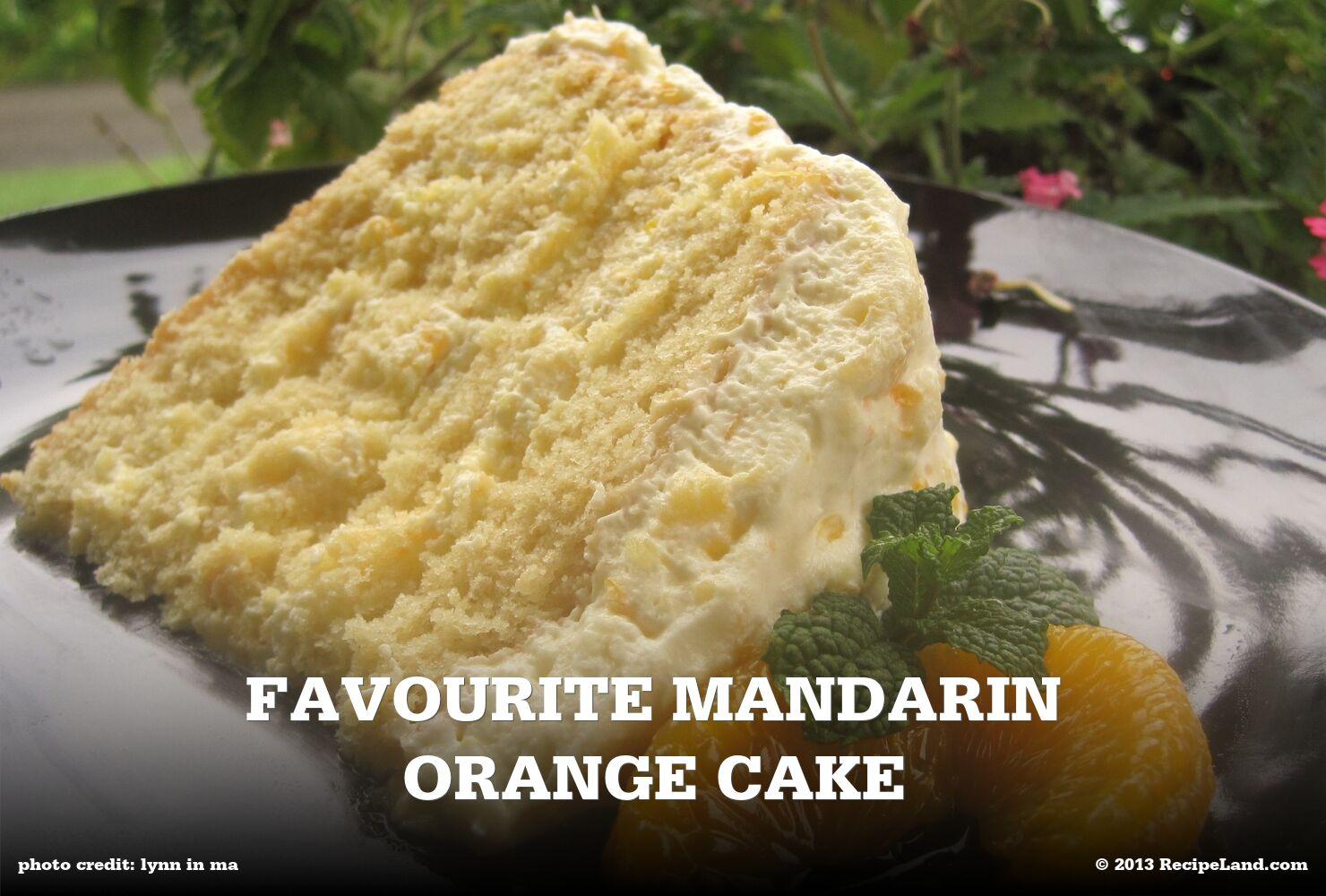 Favourite Mandarin Orange Cake