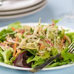 Mixed Vegetable Salad with Maple, Soy Sauce and Mustard Vinaigrette