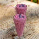Blueberry and Rum Milkshake