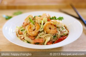 Thai Pasta and Seafood Salad