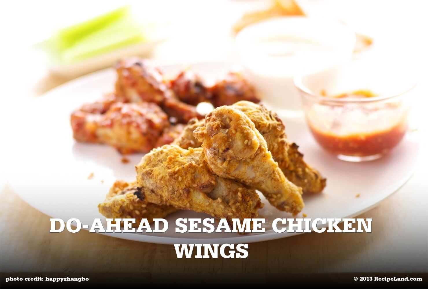 Do-Ahead Sesame Chicken Wings