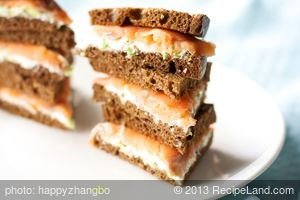 Smoked Salmon-And-Chive Sandwiches
