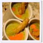 Puree of Asparagus Soup with Parmesan Twist