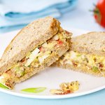 Bacon, Egg and Tomato Salad Sandwiches